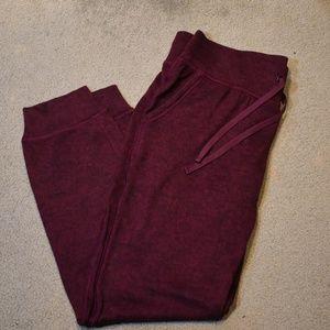 Old Navy Sweater Knit Joggers Burgundy Medium